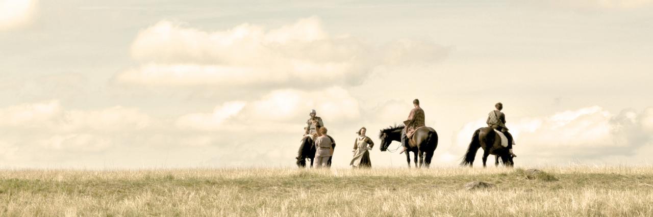 Cavaliers et femmes Arvernes sur l'oppidum de Gergovie...